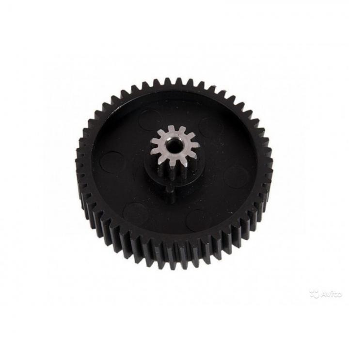 Шестеренка мясорубки MOULINEX MS008 MS-5564244 (металлическая вставка в середине) D=47/12 H=22/12 d=4mm, 11 прямых и 50 косых зубьев (17)
