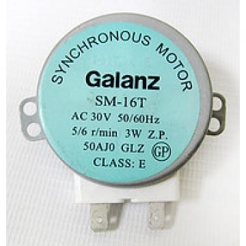 Мотор тарелки СВЧ 30V 3W 5/6 RPM SM-16T Galanz шток 14mm